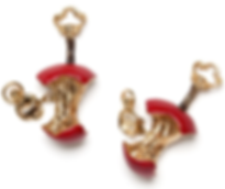 Red Relished Apple Cufflinks