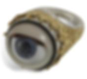 Peeping Tom Winking Dolly Eye Ring