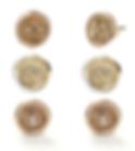 Hourglass, Lock of Love and Ampersand Mini Wax Seal Studs with Diamonds