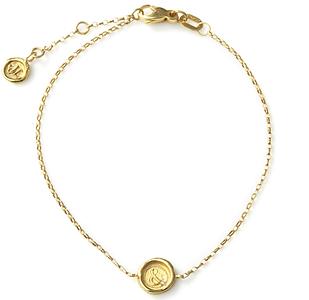Hourglass, Lock of Love and Ampersand Mini Wax Seal Bracelets with Diamonds