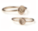 Personalised Stackable Ring Numbers 1-10 with Diamonds