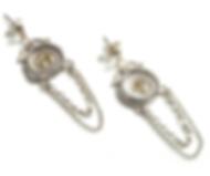 19th c Mini Seal Chain Earrings