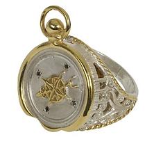 Compass Seal Ring Black Diamonds