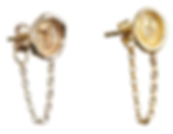 Hourglass, Lock of Love and Ampersand Chain Seal Earrings with Diamonds