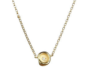Petites Star-Set Diamond Wax Seal Necklace
