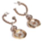 Mini Heart Wax Seal Earrings