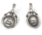19th c Mini Wax Seal Earrings