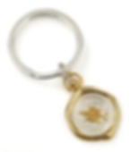 Compass Wax Seal Key Chain