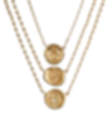 Hourglass, Lock of Love and Ampersand Mini Wax Seal Necklaces with Diamonds