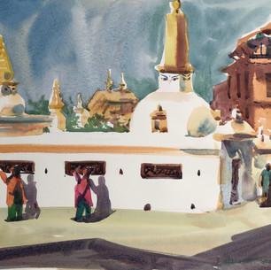 Паломники в Катманду. Непал