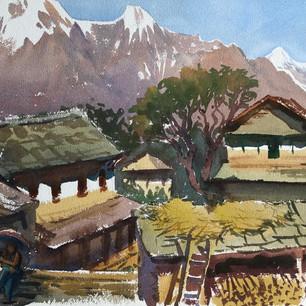 Деревня у подножья Аннапурны. Непал