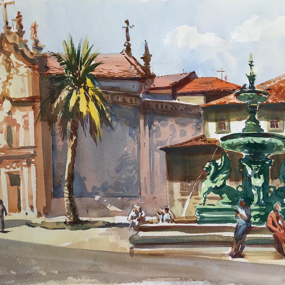 Фонтан в Порто