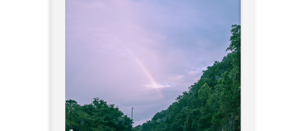 MLM Framed Rainbow To Heaven Photography Artwork