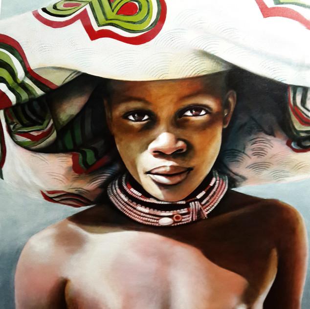 Dasanach Youth, Angola 90x120 acrylic on