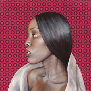 Thelma on Pink Shweshwe