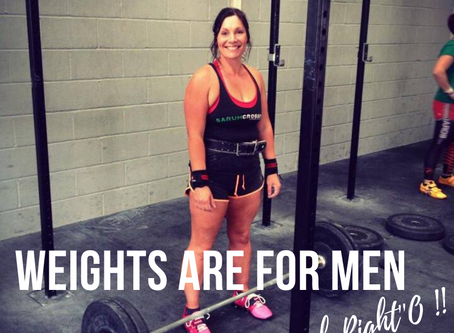 Weights are for Men ... Yeah Right !!