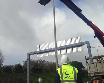 Substituição de luminárias para tecnologia LED da SCHREDER na via rápida de Ponta Delgada