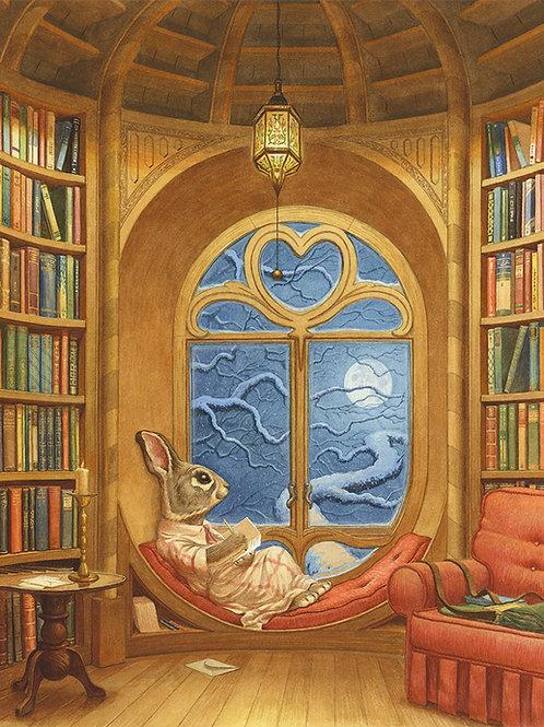 'Paisley's Library' Print