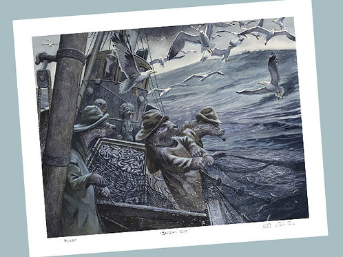 'Hauling The Nets' Signed Limited Edition Print