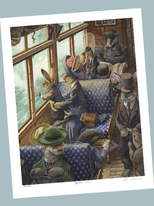 'His First Train Ride' Signed Limited Edition Print