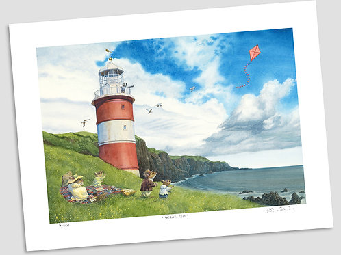 'Picnic By The Lighthouse' Signed Limited Edition Print