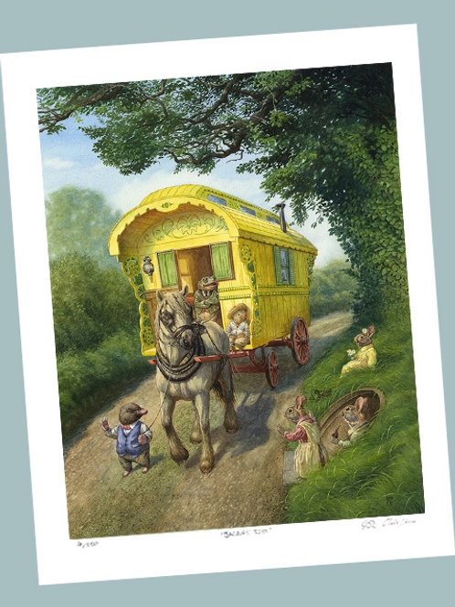 'Gipsy Caravan On The Open Road' Signed Limited Edition Print