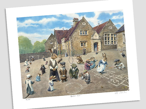 'School Playground' Signed Limited Edition Print