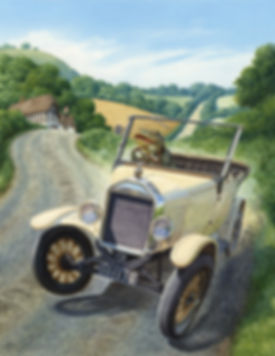 Toad The Traffic Queller Chris Dunn Illustration Car Wind In The Willows