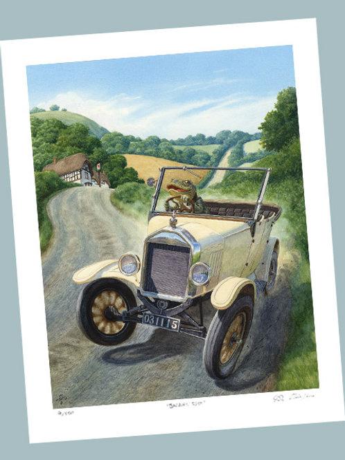 'Toad The Traffic-Queller' Signed Limited Edition Print