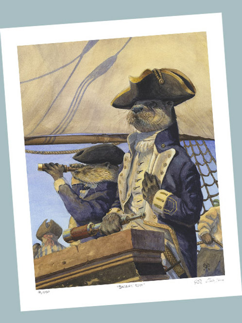 'Captain Seadog' Signed Limited Edition Print