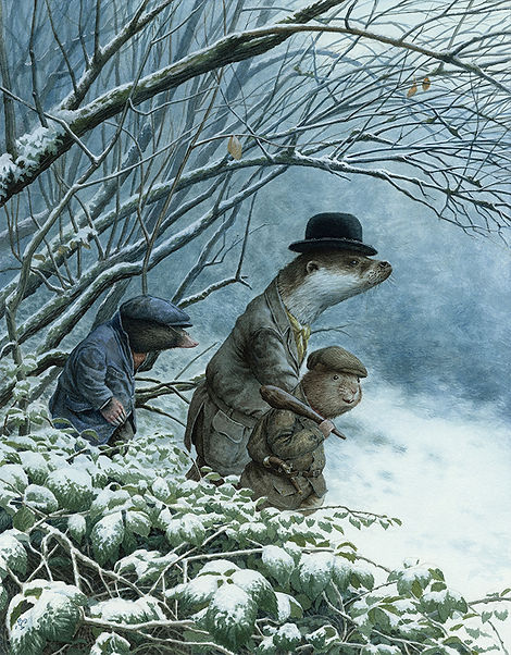 Leaving The Wild Wood Chris Dunn Illustration Otte Mole Ratty Wind In The Willows Snow