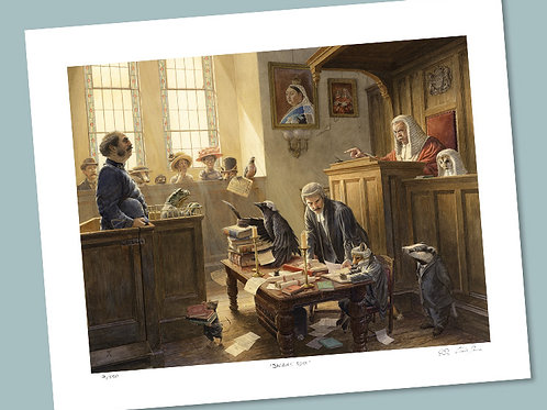 'Mr Toad In Court' Signed Limited Edition Print