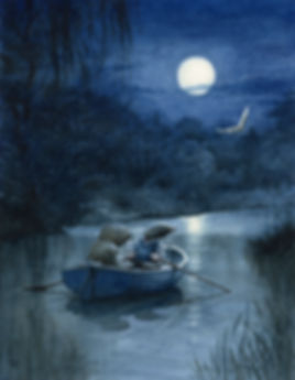 Moonlit River Chris Dunn Illustration Wind In The Willows