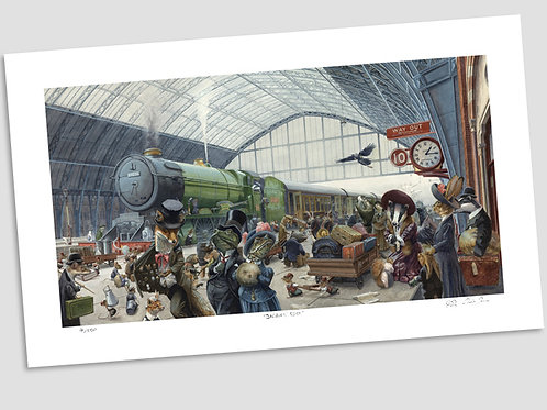 'A Quarter Past One On Platform Ten' Signed Limited Edition Print