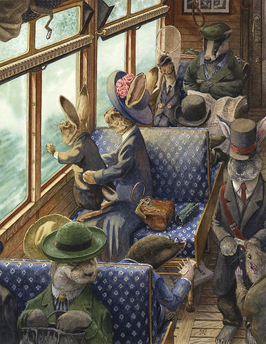 His First Train Ride by Chris Dunn Illustration