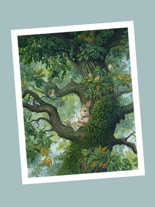 'Paisley Rabbit' Print