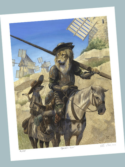 'Retreat From The Windmills' Signed Limited Edition Print