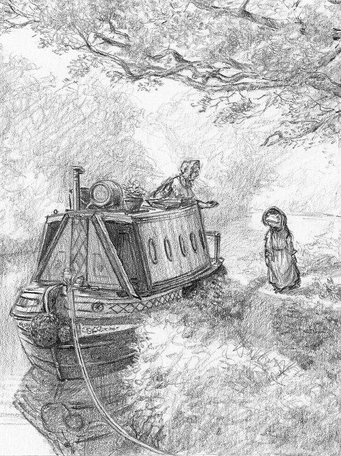 'Nice Morning Ma'am' & 'Whispering Reeds' original drawing