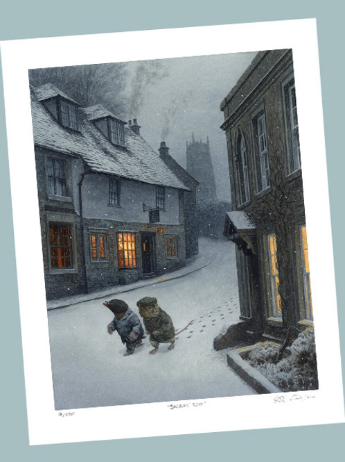 'Walking Through The Village' Signed Limited Edition Print