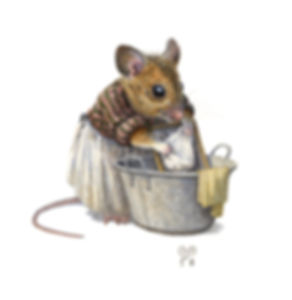 Washermouse Mouse Illustration