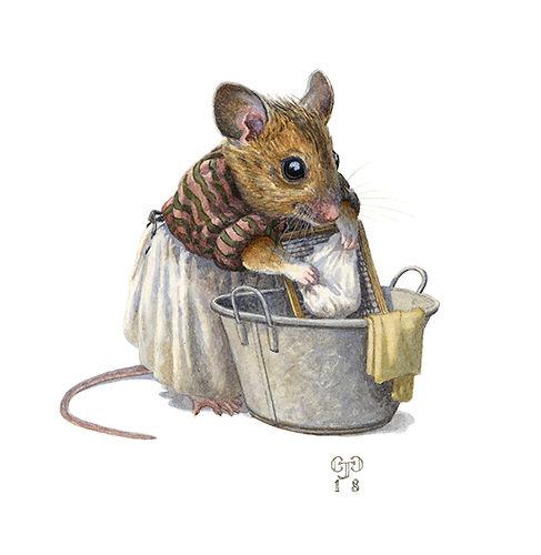 Washermouse Mouse Illustration