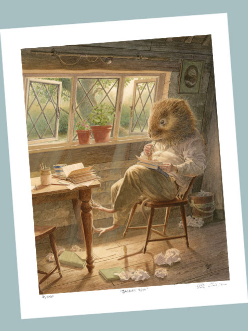 'Ratty Writing Poetry' Signed Limited Edition Print