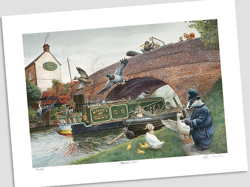 'Barging Through' Signed Limited Edition Print