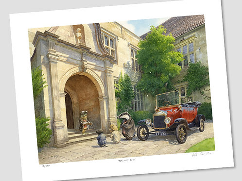 'No More Cars, Mr Toad' Signed Limited Edition Print
