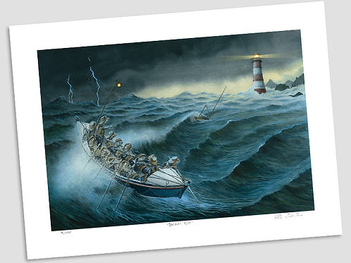 'Rescue From The Storm' Signed Limited Print