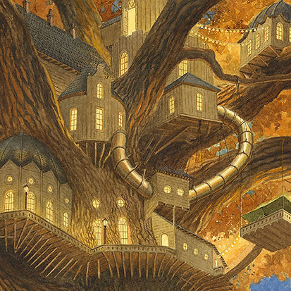 Treehouse detail. Paisley Rabbit and the Treehouse Contest - written by Steve Richardson, illustrated by Chris Dunn.