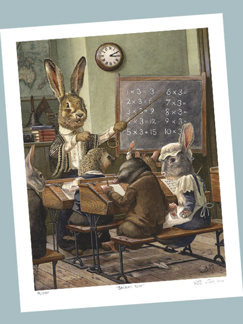 'A Maths Lesson' Signed Limited Edition Print