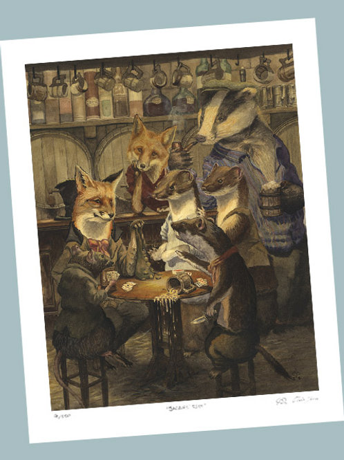 'The Card Game' Signed Limited Edition Print