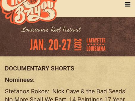 Best Documentary Short at Cinema on the Bayou Film Festival!