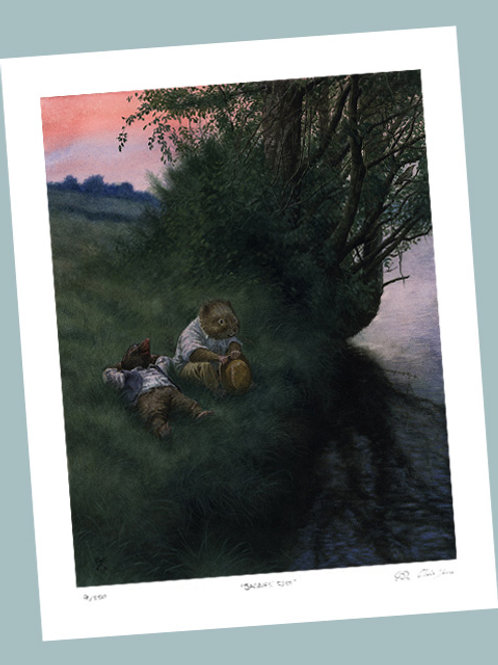 'Relaxing After A Hot Day' Signed Limited Edition Print